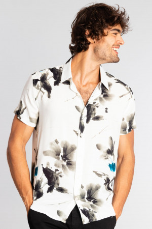 Camisa Floral Aquarela  MC